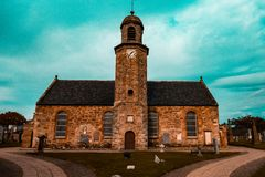 Härlig kyrka i Skottland fotografering för bildbyråer