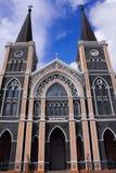 Härlig kyrka i Thailand Arkivbild