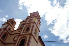 Härlig kyrka i Venezuela Arkivbilder