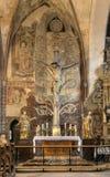 Härlig kyrklig arkitektur Arkivfoto