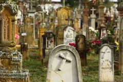 härlig kyrkogård Fotografering för Bildbyråer