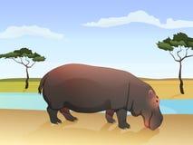 Härlig lös afrikansk djur illustration bifokal stock illustrationer