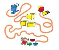Härlig labyrint för lekar för barn` s vektor illustrationer