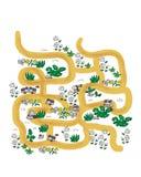 Härlig labyrint för lekar för barn` s royaltyfri illustrationer