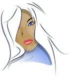 härlig lady vektor illustrationer