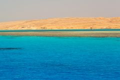 Härlig lagun av Röda havet Arkivbild