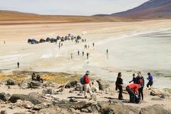 Härlig lagun i den Atacama öknen Royaltyfri Foto