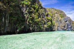 Härlig lagun nära El Nido - Palawan, Filippinerna arkivfoto
