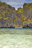 Härlig lagun nära El Nido - Palawan, Filippinerna arkivfoton