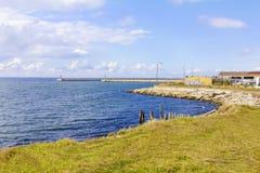 Härlig landskapport, seascape Arkivbild