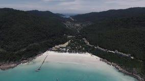 Härlig landskapsikt av den Redang ön arkivfilmer
