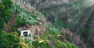 Härlig landskapsikt av Funchal, madeira, uppifrån av berget royaltyfri fotografi