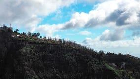 Härlig landskapsikt av Funchal, madeira, uppifrån av berget arkivfoton