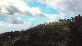 Härlig landskapsikt av Funchal, madeira, uppifrån av berget royaltyfri foto