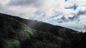 Härlig landskapsikt av Funchal, madeira, uppifrån av berget arkivbild