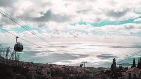 Härlig landskapsikt av Funchal, madeira, uppifrån av berget royaltyfri bild