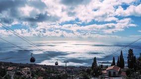 Härlig landskapsikt av Funchal, madeira, uppifrån av berget arkivfoto