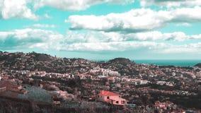 Härlig landskapsikt av Funchal, madeira, uppifrån av berget royaltyfria foton