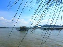 Härlig landskapSongkhla sjö songkhla Thailand Arkivbilder