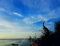 Härlig landskapSongkhla sjö songkhla Thailand Royaltyfria Foton