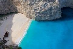 Härlig lanscape av den Zakinthos ön arkivfoto