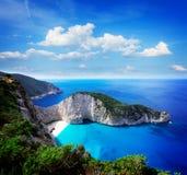 Härlig lanscape av den Zakinthos ön fotografering för bildbyråer