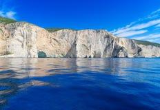 Härlig lanscape av den Zakinthos ön arkivbilder