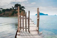 Härlig lanscape av den Zakinthos ön royaltyfri foto