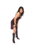 härlig latinamerikansk model standing Royaltyfria Foton