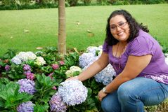 Härlig latinamerikansk ung kvinna Royaltyfri Fotografi