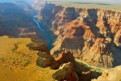 Härlig liggande av grandet Canyon Arkivfoton