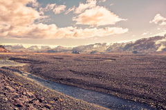 Härlig liggande av Island Royaltyfri Fotografi