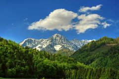 härlig liggande för alpin royaltyfri bild