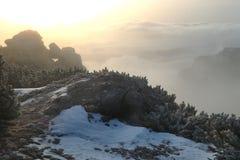 Härlig liggande i bergen Arkivfoto