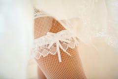Härlig linne av bruden Arkivbild