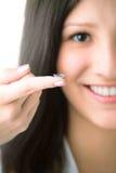 härlig lins för kontaktögonhuman arkivfoto