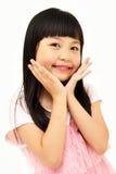 Asiatiska flicka stående Arkivbilder