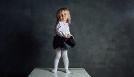 Härlig liten ballerinadansare Arkivfoton