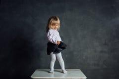 Härlig liten ballerinadansare Arkivbilder