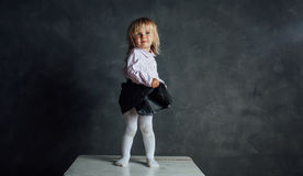 Härlig liten ballerinadansare Royaltyfri Bild
