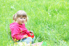 Härlig liten flicka Arkivbild