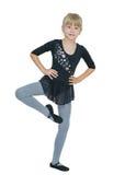 Härlig liten flicka i dräkten för dansen Royaltyfri Foto