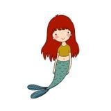 härlig liten mermaid siren abstrakt tema för abstraktionbakgrundshav Arkivbild
