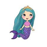 härlig liten mermaid siren abstrakt tema för abstraktionbakgrundshav Royaltyfria Foton