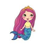 härlig liten mermaid siren abstrakt tema för abstraktionbakgrundshav Fotografering för Bildbyråer