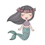 härlig liten mermaid siren abstrakt tema för abstraktionbakgrundshav Arkivfoto