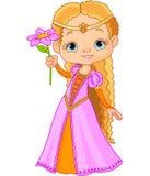 härlig liten princess Arkivbild