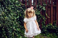 Härlig liten prinsessaflicka arkivbild