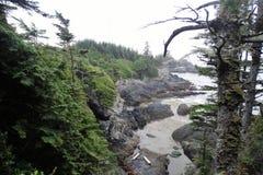 Härlig liten vik inom den lösa Stillahavs- slingan, Ucluelet, British Columbia royaltyfria bilder
