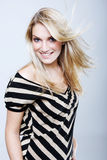 Härlig livlig blond kvinna Royaltyfri Bild